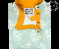 Косоворотка Изумруд (бирюзовая с цветами) - Георгий Маркин - Студия дизайнерской одежды